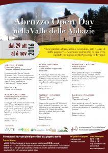 Abruzzo Open day nella Valle delle Abbazie
